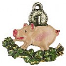 Lucky Pig Pewter Charm