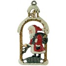 Santa Delivering Gifts Pewter Ornament