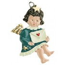 Letter Baby Angel Pewter Ornament