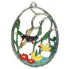 Flying Ducks Pewter Ornament