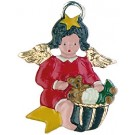 Goody Basket Baby Angel Pewter Ornament