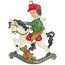 Boy and Rocking Horse
