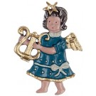 Lyra Baby Angel Pewter Ornament