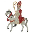St. Nicholas on a Horse Pewter ornament