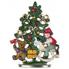 Christmas Tree and Rocking Horse Figurine