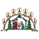 Nativity with Arch Pewter Figurine