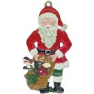 Santa with Sack Pewter Ornament