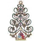 Christmas Tree with Nativity Ornament
