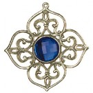 Pewter Tree Ornament with Blue stone - Style 2