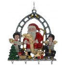 Santa with List 3D Ornament Pewter Ornament