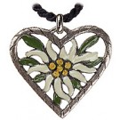 Edelweiss Heart Pewter Necklace