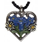 Gentian and Edelweiss Pewter Necklace