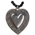 Antique Heart Pewter Necklace