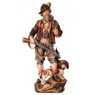 Hunter with Dachshund Wooden Figurine