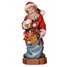 Santa Claus with Bell Wooden Figurine