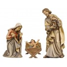 Holy Family with Simple Manger Figurines