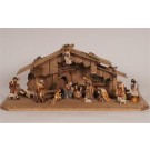 Hand Carved Kostner Nativity 18 piece Set