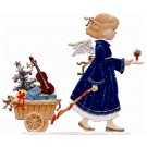 Angel Pulling Gift Wagon