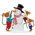 Mice with Snowman Ornament