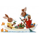 Bunny Couple in Boat