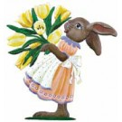 Bunny with Tulips