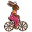 Schweizer Bunny on Bike Ornament