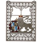 Bavarian Lion Filigree Wall Hanging