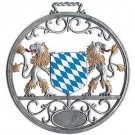 Pewter Bavarian Shield Wall Hanging