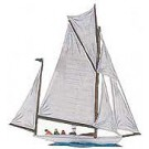 Albatros Sailboat Pewter Figurine