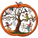 Halloween Pumpkin Pewter Wall Hanging