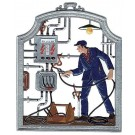 The Electrician Pewter Ornament