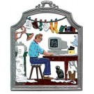 The Computer Guru Pewter Ornament