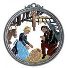 German Pewter Nativity Wall Hangina