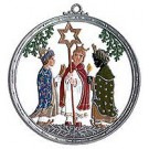 German Pewter Carolers Wall Hanging