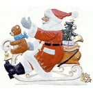 Schweizer Sledding Santa