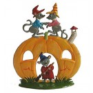 Pumpkin Mouse House Pewter Ornament