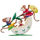Mouse Family in Egg Seesaw Pewter Ornament