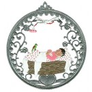 Rock-A-Bye Baby Pewter Ornament