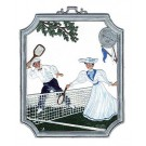 Pewter Tennis Ornament