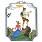 Pewter Hiking Ornament