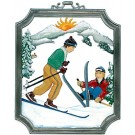 Pewter Skiing Ornament