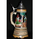 Musical Dorf German Stein Front