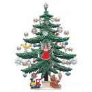 Decorated Christmas Tree Pewter Figurine