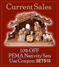 Woodcarved nativity- 10% off!
