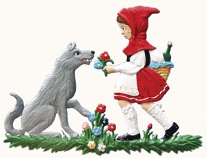 Little Red Riding Hood Ornament Pewter Ornament