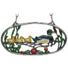 Duck Family Pewter Wall Ornament