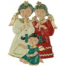 Angel Trio Pewter Ornament