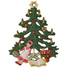 Christmas Tree with Gifts pewter ornament