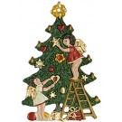 Angels decorating tree
