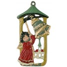 Angel with Bell pewter ornament